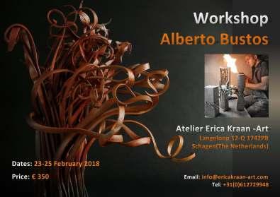 Workshop Alberto Bustos februari 2018 affiche